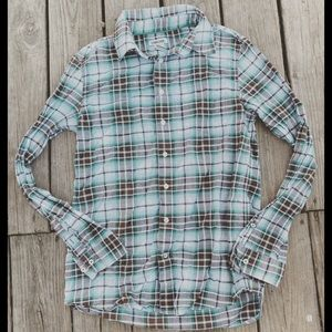 Plaid Cherokee Button Down Blouse
